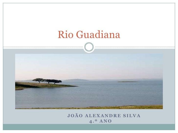 Rio Guadiana      JOÃO ALEXANDRE SILVA        4.º ANO
