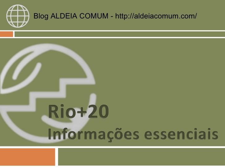 Blog ALDEIA COMUM - http://aldeiacomum.com/