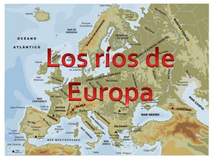 Rios De Europa Mapa Con Nombres.Rios De Europa Luisa