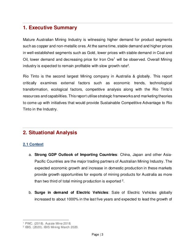 Page   3 1. Executive Summary Mature Australian Mining Industry is witnessing higher demand for product segments such as c...