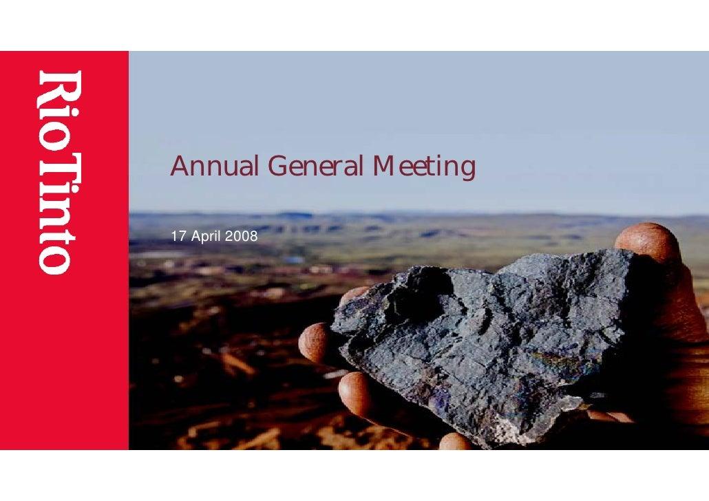 Annual General Meeting  17 April 2008