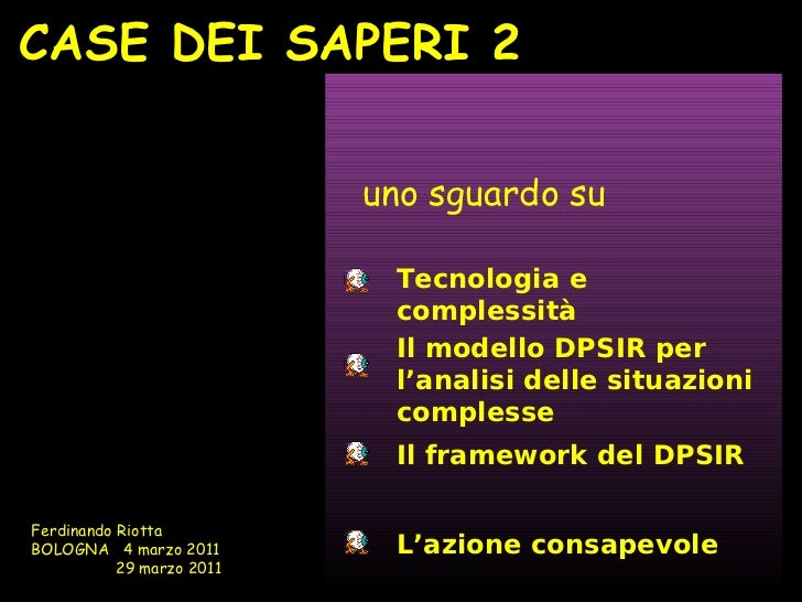 CASE DEI SAPERI 2                           uno sguardo su                            Tecnologia e                        ...