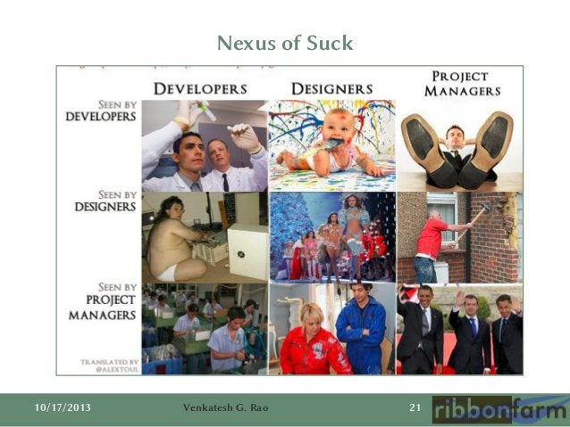 Nexus of Suck  10/17/2013  Venkatesh G. Rao  21