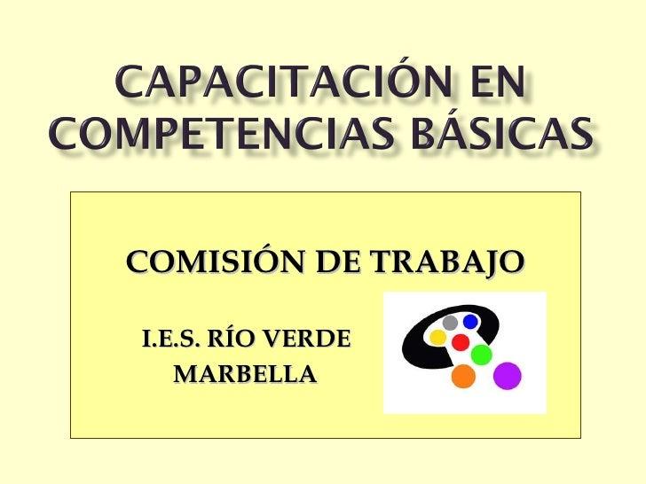 COMISIÓN DE TRABAJO I.E.S. RÍO VERDE   MARBELLA