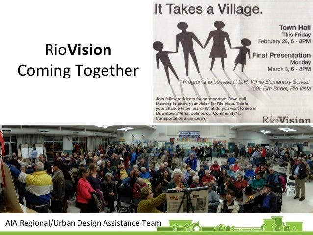 RioVision Coming Together  AIA Regional/Urban Design Assistance Team