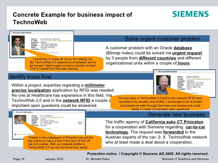Concrete Example for business impact of TechnoWeb A customer problem with an Oracle  database  (Bitmap Index) could be sol...