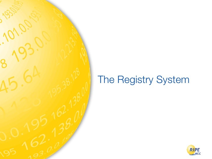 The Registry System