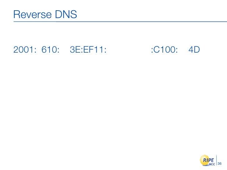Reverse DNS   2001: 610:   3E:EF11:   :C100:   4D                                           36