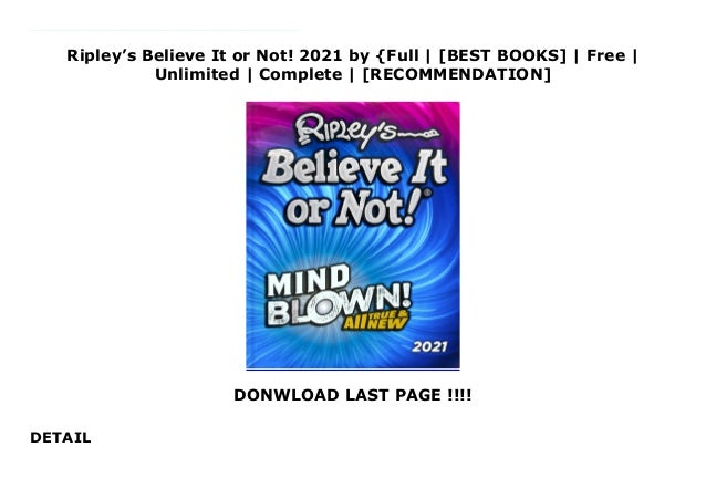 ripleys believe it or not 2021 by full best books free unlimited complete recommendation 1 638