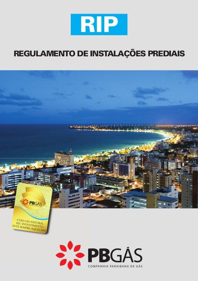 RIP  REGULAMENTO DE INSTALAÇÕES PREDIAIS