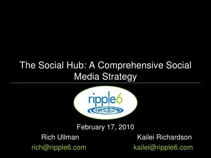 The Social Hub: A Comprehensive Social Media Strategy<br />February 17, 2010 <br />Rich UllmanKailei Richardson<br />ri...