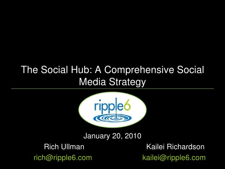 The Social Hub: A Comprehensive Social Media Strategy<br />January 20, 2010 <br />	Rich Ullman	Kailei Richardson<br />	ric...