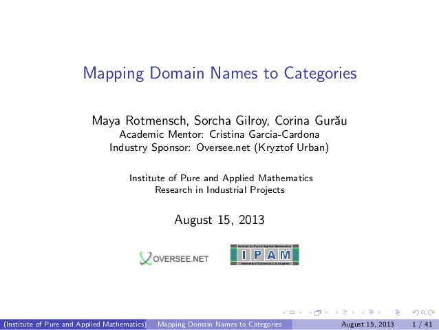 Mapping Domain Names to Categories on twitter mapping, content mapping, field mapping, system mapping, topology mapping, forest mapping, title mapping, identity mapping, account mapping, site mapping,