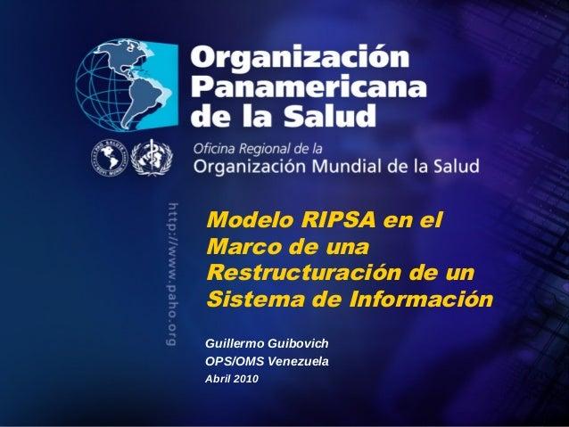 Modelo RIPSA en el               Marco de una               Restructuración de un               Sistema de Información    ...