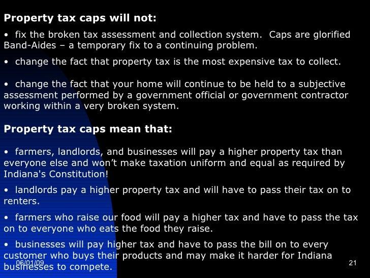 Indiana Property Tax Cap Amendment