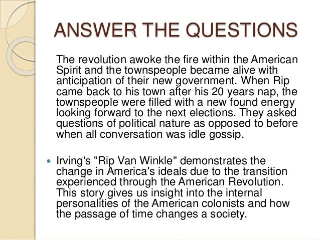 rip van winkle and american dream Need help on symbols in washington irving's rip van winkle check out our detailed analysis from the creators of sparknotes.