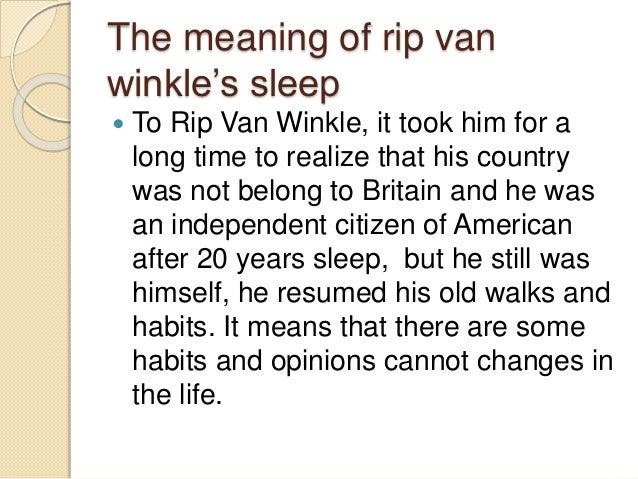 Modern day Rip Van Winkle - Essay Example