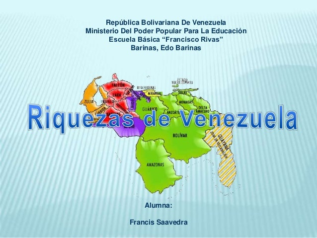 """República Bolivariana De Venezuela Ministerio Del Poder Popular Para La Educación Escuela Básica """"Francisco Rivas"""" Barinas..."""