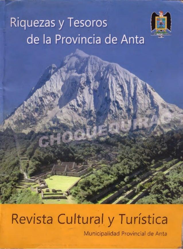 [m unicipalidacTpro vinciai? de] - ANTA Revista Cultural y Turística Municipalidad Provincial de Anta %