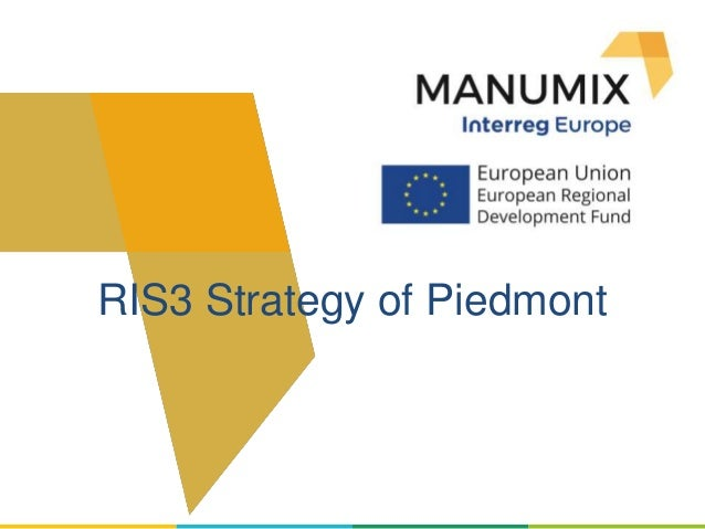 RIS3 Strategy of Piedmont