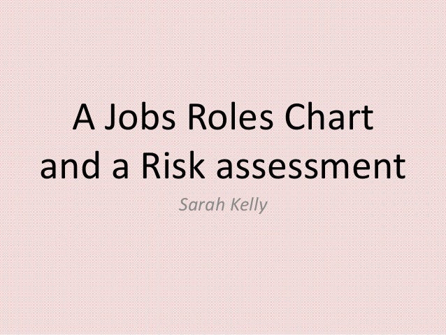 A Jobs Roles Chart and a Risk assessment Sarah Kelly
