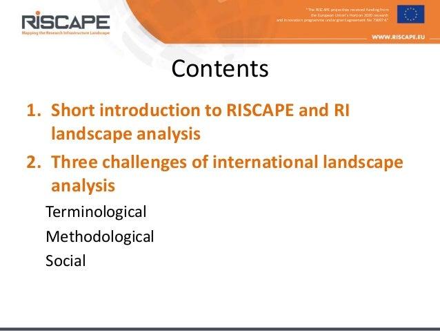 RISCAPE at COOP+ 2018 - presentation by Ari Asmi Slide 2