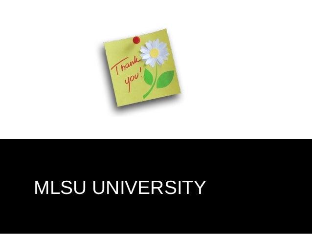 MLSU UNIVERSITY