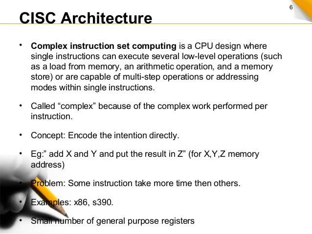 cisc instruction set example