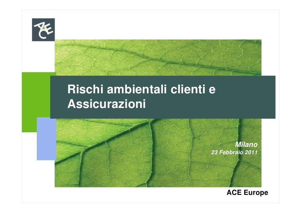 Rischi ambientali clienti eAssicurazioni                                  Milano                          23 Febbraio 2011...