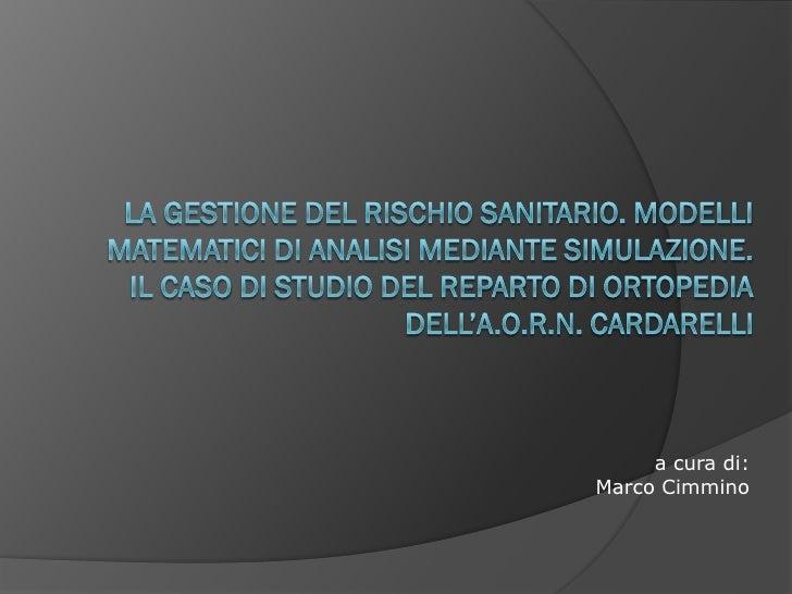 a cura di: Marco Cimmino