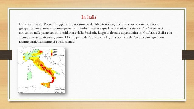 Rischio sismico terremoti e sismografi for Rischio sismico in italia