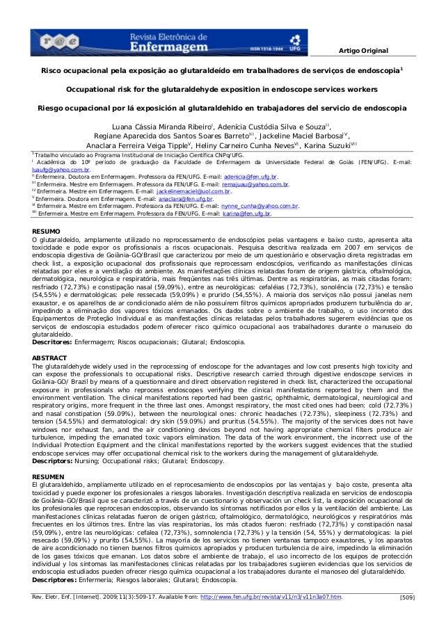 [509]Artigo OriginalRev. Eletr. Enf. [Internet]. 2009;11(3):509-17. Available from: http://www.fen.ufg.br/revista/v11/n3/v...