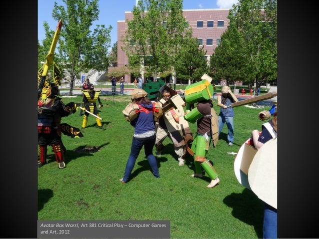 Avatar Box Wars!, Art 381 Critical Play – Computer Games and Art, 2012
