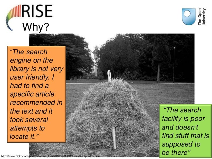 """Why?      """"The search      engine on the      library is not very      user friendly. I      had to find a      specific a..."""