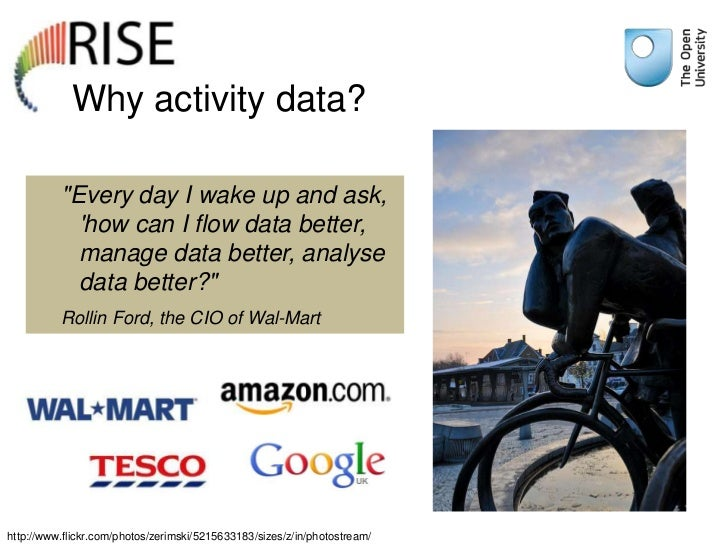 """Why activity data?          """"Every day I wake up and ask,            how can I flow data better,            manage data be..."""