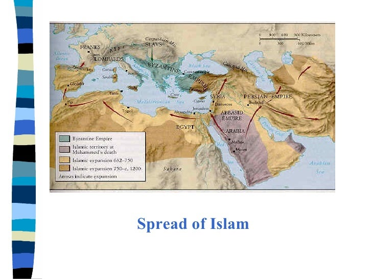 rise and spread of islam essay During the 7th century, the religion of islam spread quickly through the middle  east and north africa in the 8th century, trans-saharan trade brought.
