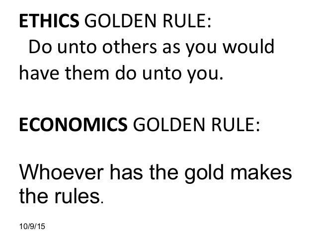 Balancing Economics & Ethics