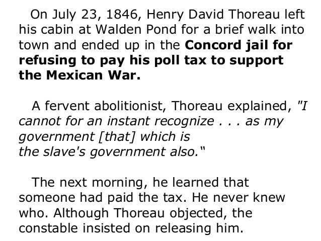 """a brief review of henry thoreaus civil disobedience Civil disobedience quote analysis essay quote analysis from civil disobedience by: henry david thoreau """"but, to speak practically and as a citizen unlike those who call themselves."""