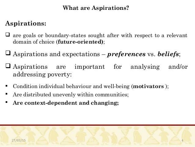 Formation of Aspirations An Empirical Analysis