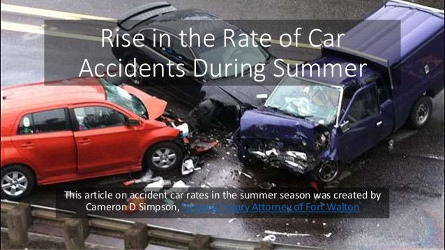 Rise In Car Accidents During Summer