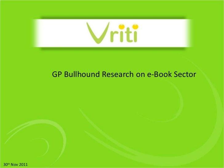 GP Bullhound Research on e-Book Sector 30 th  Nov 2011