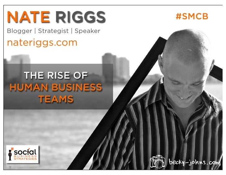 NATE RIGGS                       #SMCBBlogger | Strategist | Speakernateriggs.com  THE RISE OFHUMAN BUSINESS    TEAMS