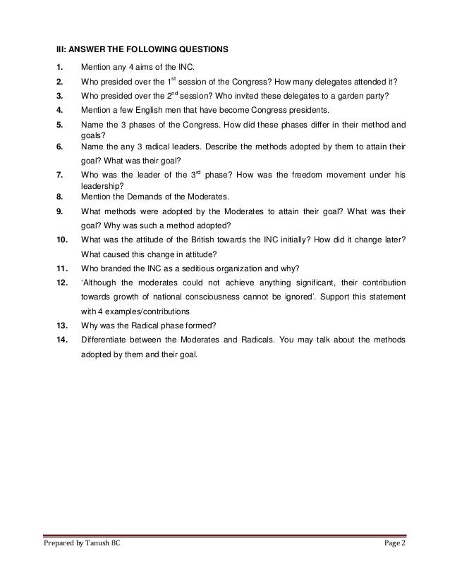 Rise of indian nationalism GREAT FOR STUDENTS OF GRADE 9 WORKSHEET A – Leadership Worksheets