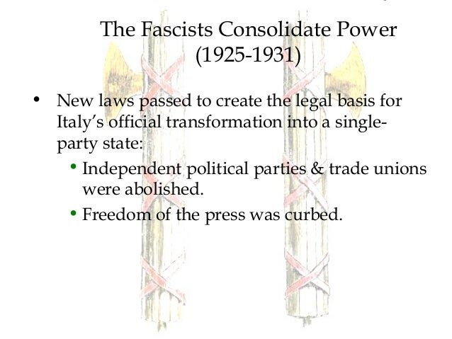 an analysis of benito mussolinis rise to power in italy in 1922 Benito mussolini was the dictator of italy from 1922-1943 under his leadership, italy fell mussolini used all of the tactics listed below to rise to power and.