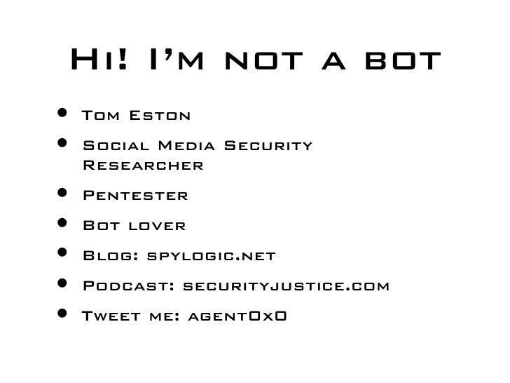 Rise of the Autobots: Into the Underground of Social Network Bots Slide 2