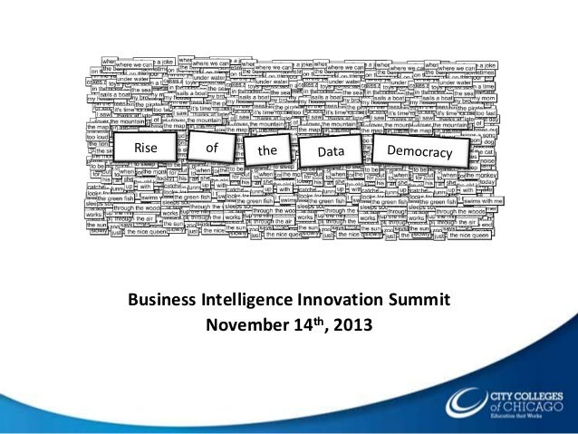 Rise  Business Intelligence Innovation Summit November 14th, 2013