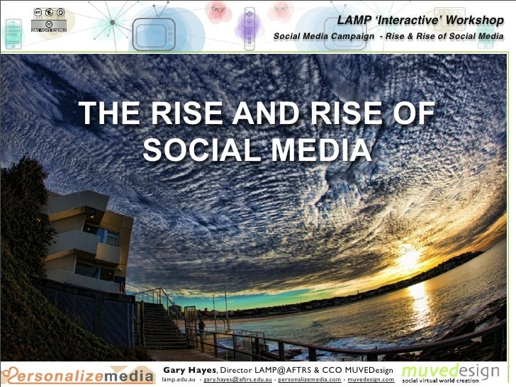 LAMP ʻInteractive' Workshop                                         Social Media Campaign - Rise & Rise of Social Media   ...