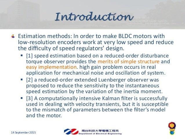 speed control of brushless dc motor pdf