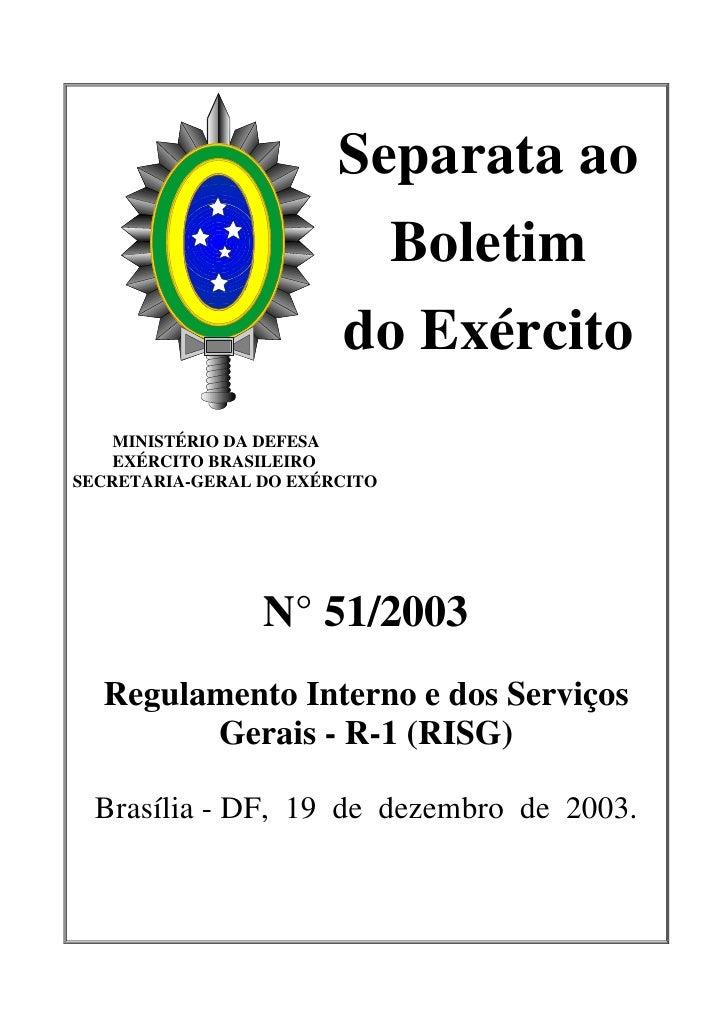 Separata ao                          Boletim                        do Exército    MINISTÉRIO DA DEFESA    EXÉRCITO BRASIL...