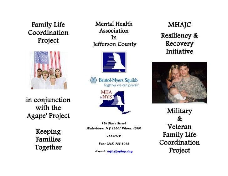 Family Life         Mental Health                    MHAJCCoordination           Association                            In...